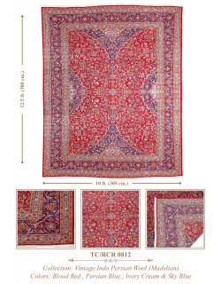 INDO-PERSIAN TRADITIONAL KASHAN WOOL