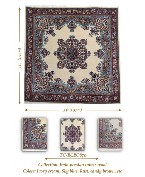 INDO-PERSIAN TRADITIONAL TABRIZ WOOL